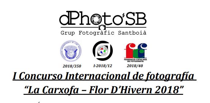 "I Concurso Internacional de fotografía ""La Carxofa – Flor D'Hivern 2018"""