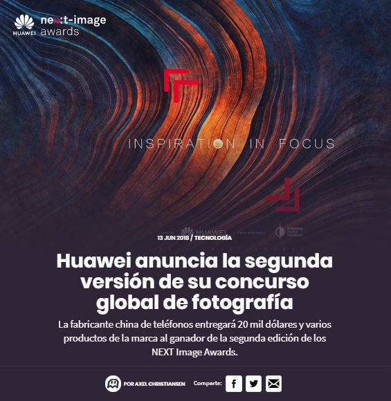 Concurso de Fotografía Next Image Awards HUAWEI