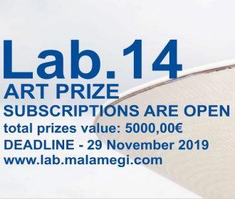 Convocatoria Internacional para Artistas – Lab.14 Art Contest
