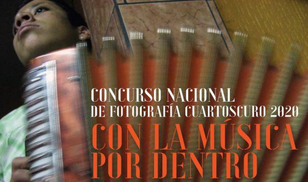 """Concurso nacional de fotografía Cuartoscuro 2020 """"Con la música por dentro"""""""